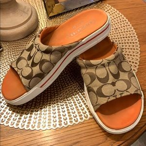 Coach slip on sandal
